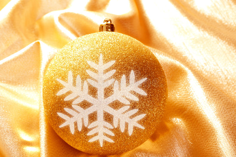 Download Christmas Glitter Golden Snowflake Bauble Stock Image - Image: 21614637