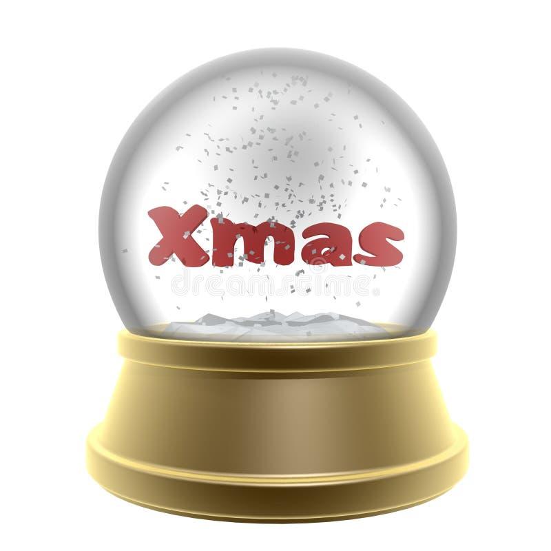 Download Christmas globe stock illustration. Image of globe, golden - 12279393