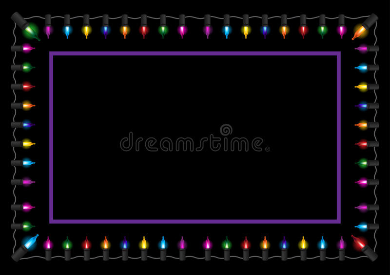 Download Christmas Glow Light Border Stock Vector - Illustration of border, device: 19489748