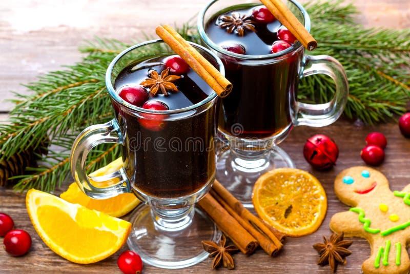 Christmas gluhwein stock image
