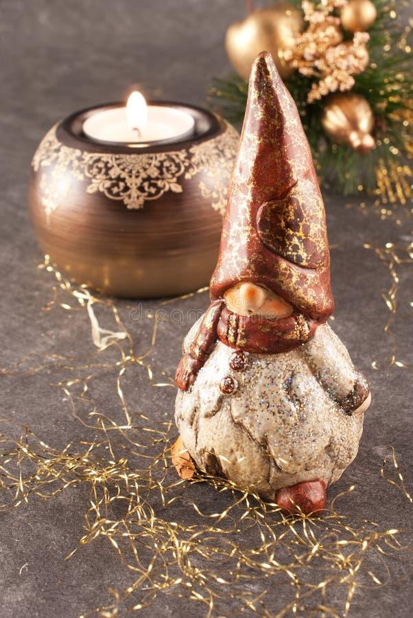 Christmas gnome royalty free stock image