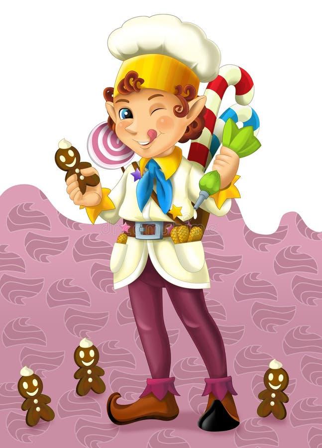 Download The Christmas Gnome - Drawrf - Illustration For The Children Stock Illustration - Image: 31253064