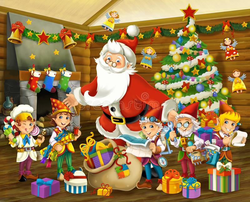 Download The Christmas Gnome - Drawrf - Illustration For The Children Royalty Free Stock Images - Image: 31341859