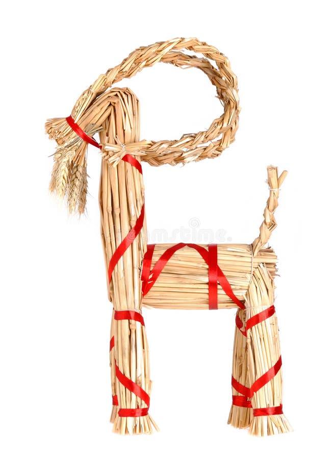 Christmas goat stock image