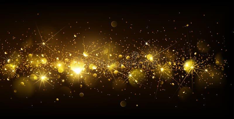 Christmas Gold Background stock illustration
