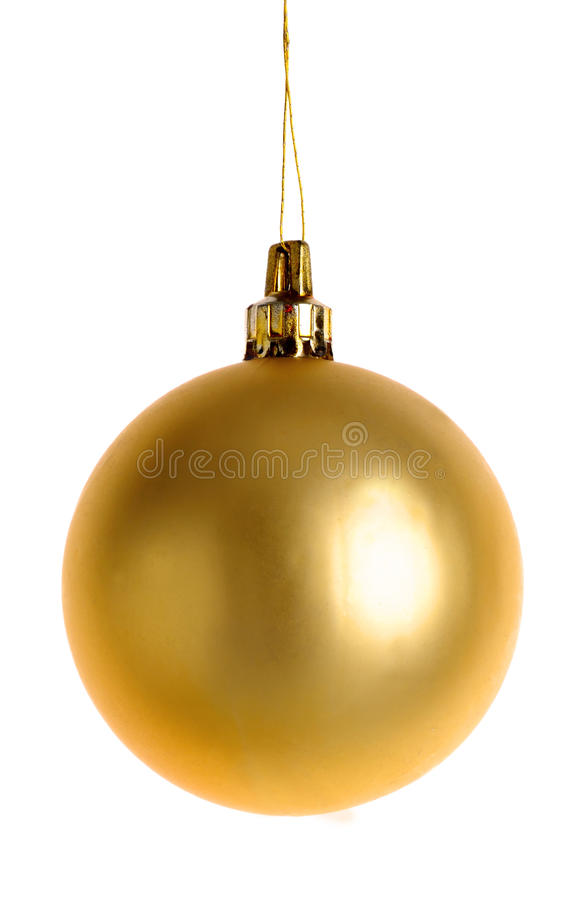 Free Christmas Gold Bauble Royalty Free Stock Photo - 45767495