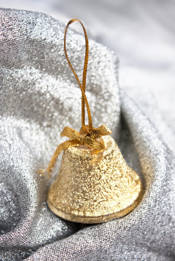 Download Christmas gold bell stock image. Image of decoration - 17021709