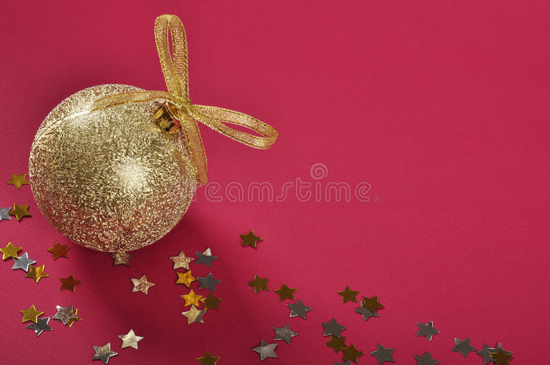 Download Christmas Gold Glitter Bauble Stock Image - Image: 27656503