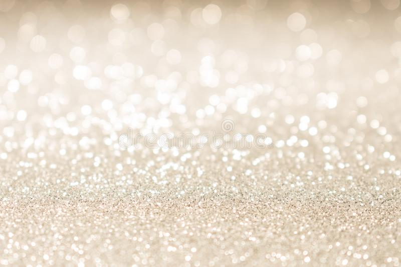 Christmas gold glitter vintage lights background royalty free stock images