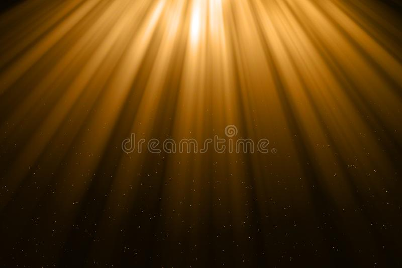 Christmas gold gradient sparkle glitter dust particles from top stock illustration