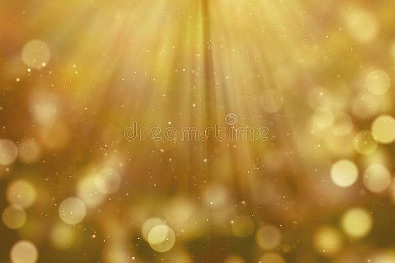 Christmas gold gradient sparkle glitter dust particles from top royalty free illustration