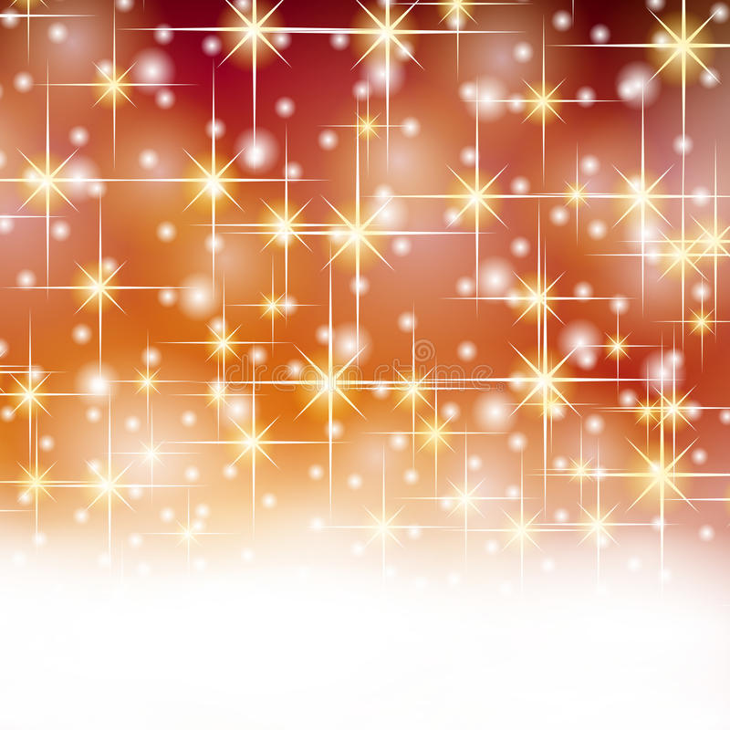 Christmas gold red stars vector illustration