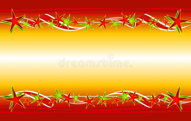 Download Christmas Gold Red Stars Ribbons Stock Illustration - Image: 3696890