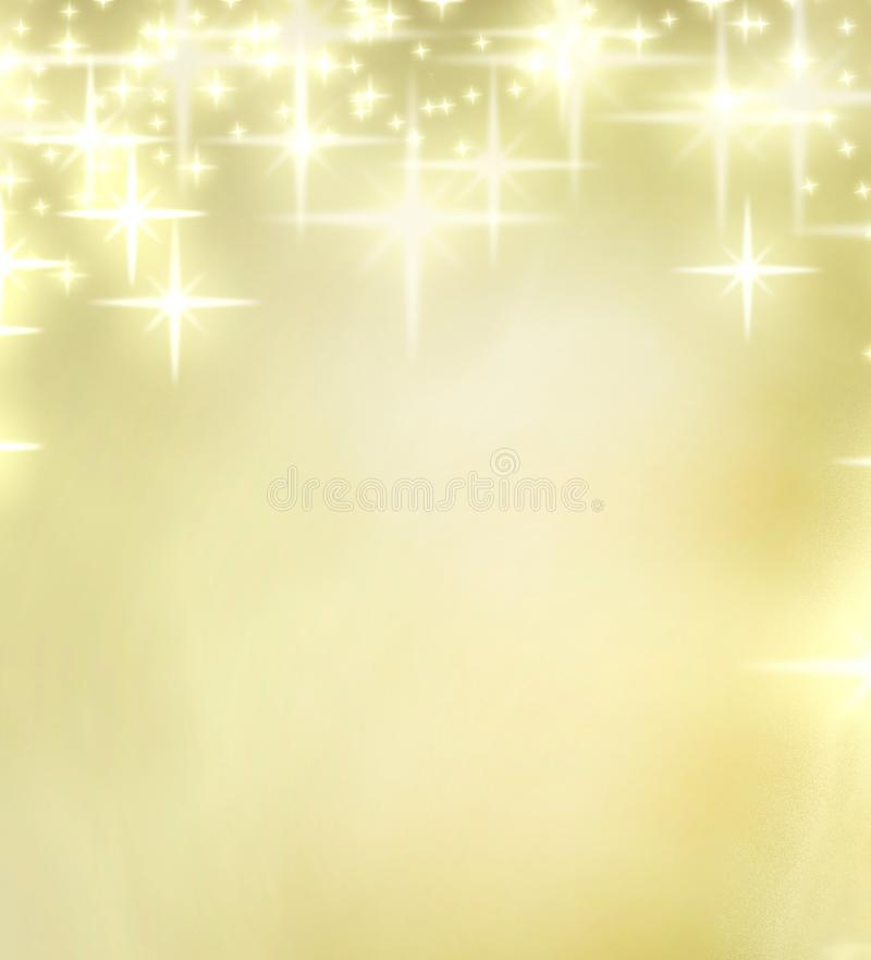 Christmas golden background. With stars royalty free illustration