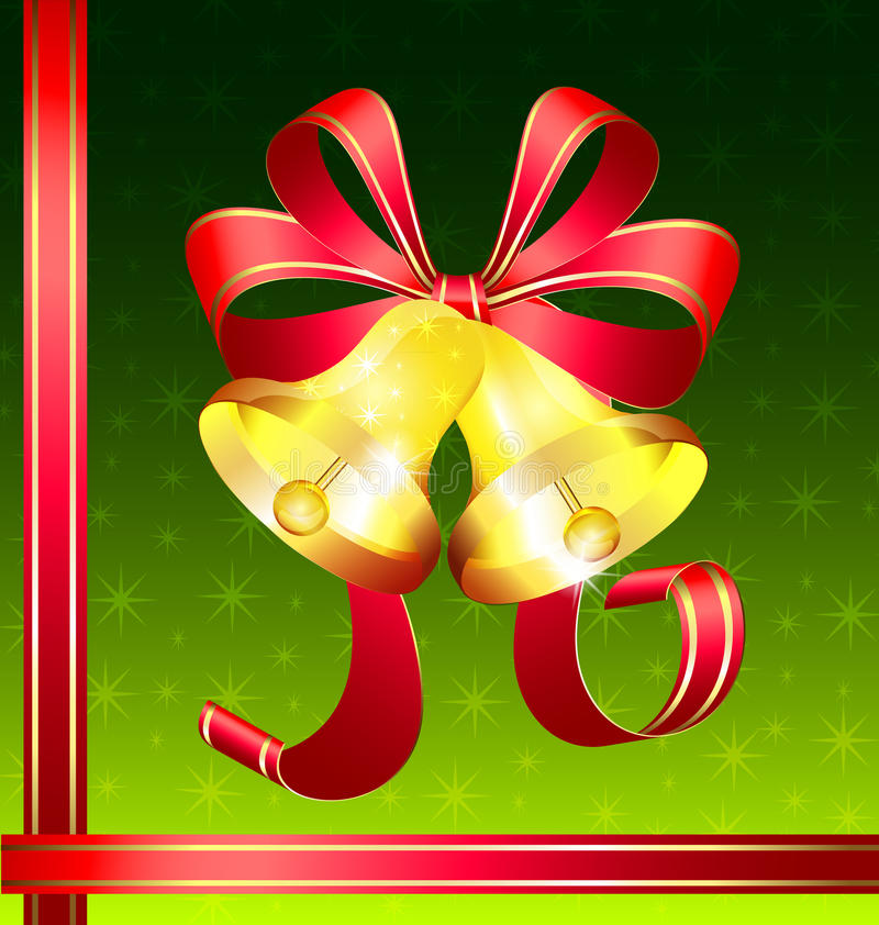 Download Christmas golden bells stock vector. Image of composition - 22059832