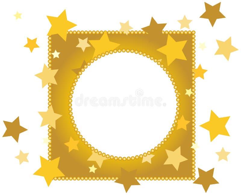 Christmas Golden frame stock photos
