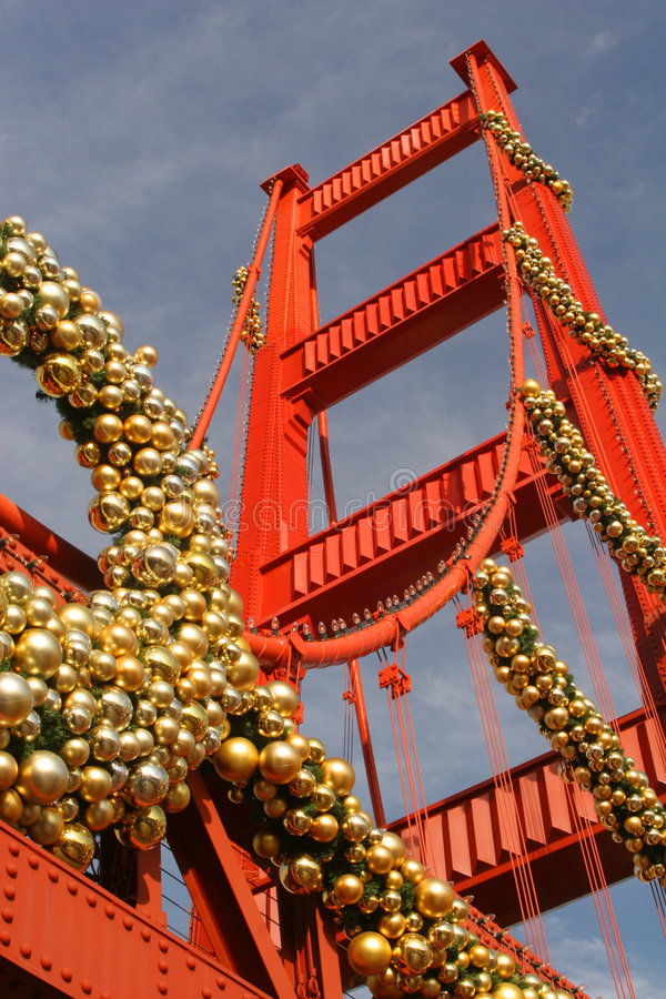Christmas At the Golden Gate - Replica royalty free stock images