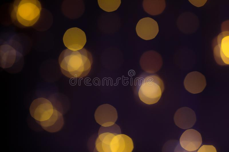 Christmas golden lights. Background of bright glow bokeh. - Image. Christmas golden lights. Background of bright glow bokeh royalty free stock photos