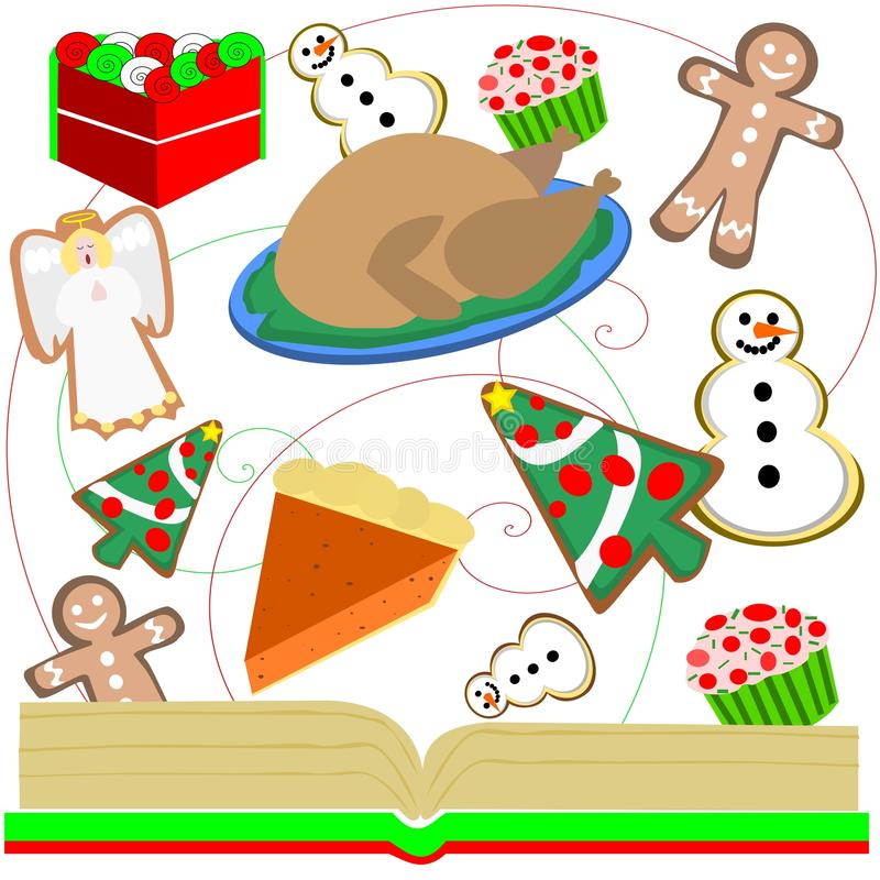 Christmas goodies vector illustration