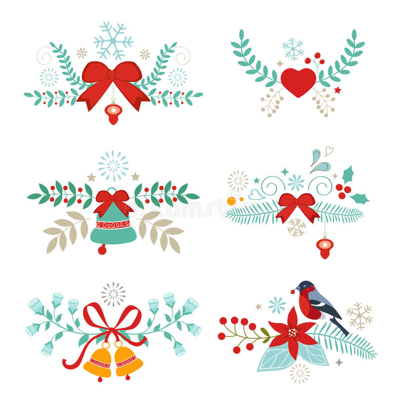 Christmas graphic elements vector illustration