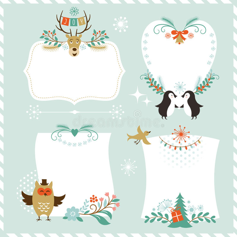 Christmas graphic elements royalty free illustration
