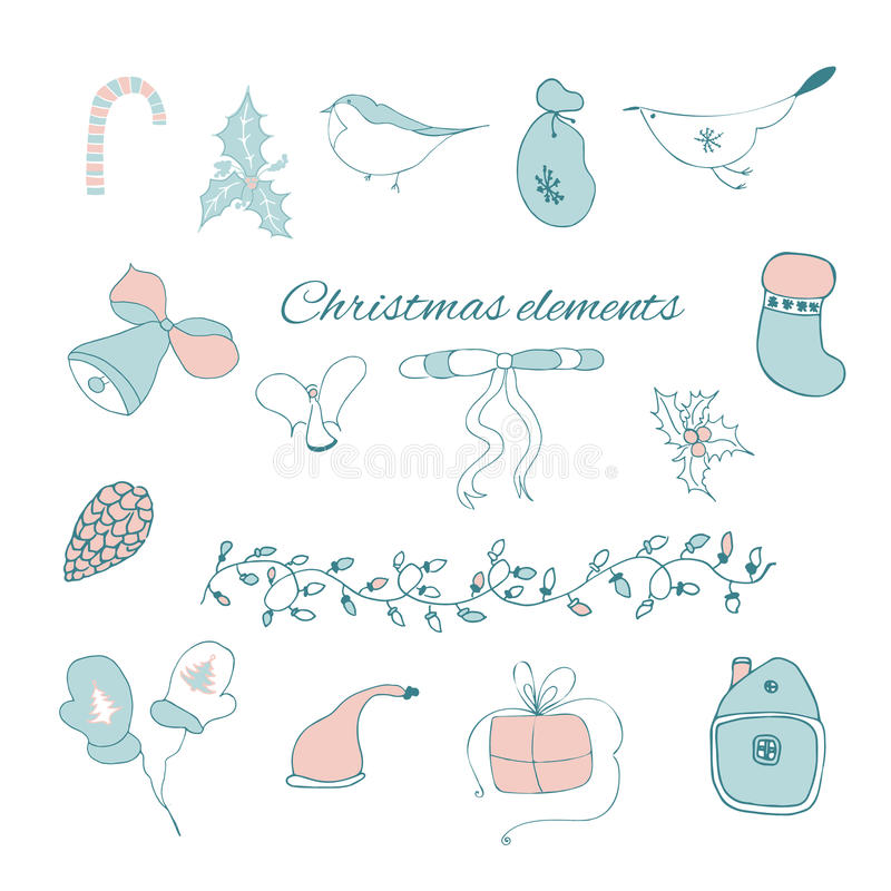 Christmas graphic elements stock photography