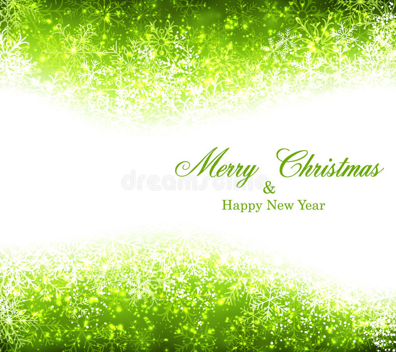 Christmas green abstract background. stock illustration