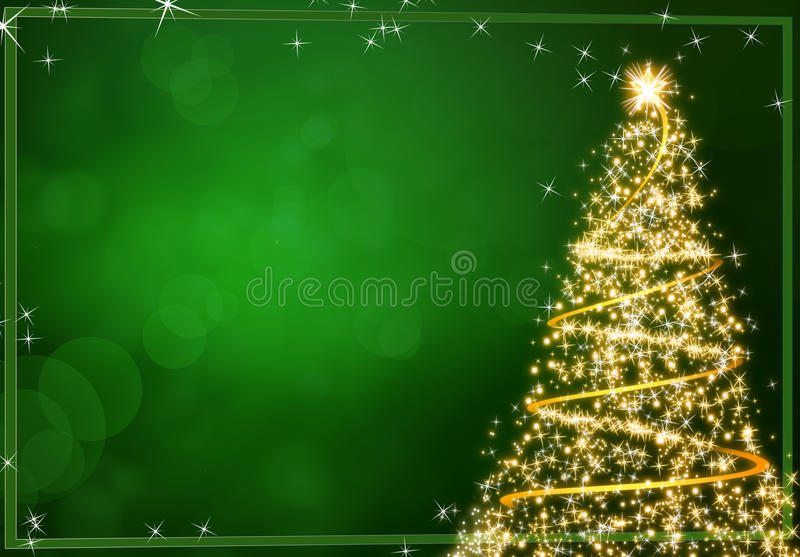 Download Christmas green background stock illustration. Image of flake - 21032828