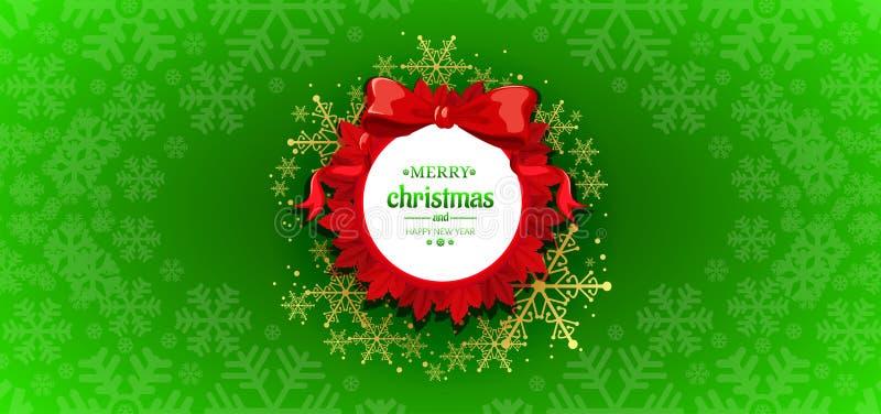 Christmas green background design. Christmas and happy new year green background design, holiday, xmas, abstract, wallpaper, illustration, snow, celebration royalty free stock photos