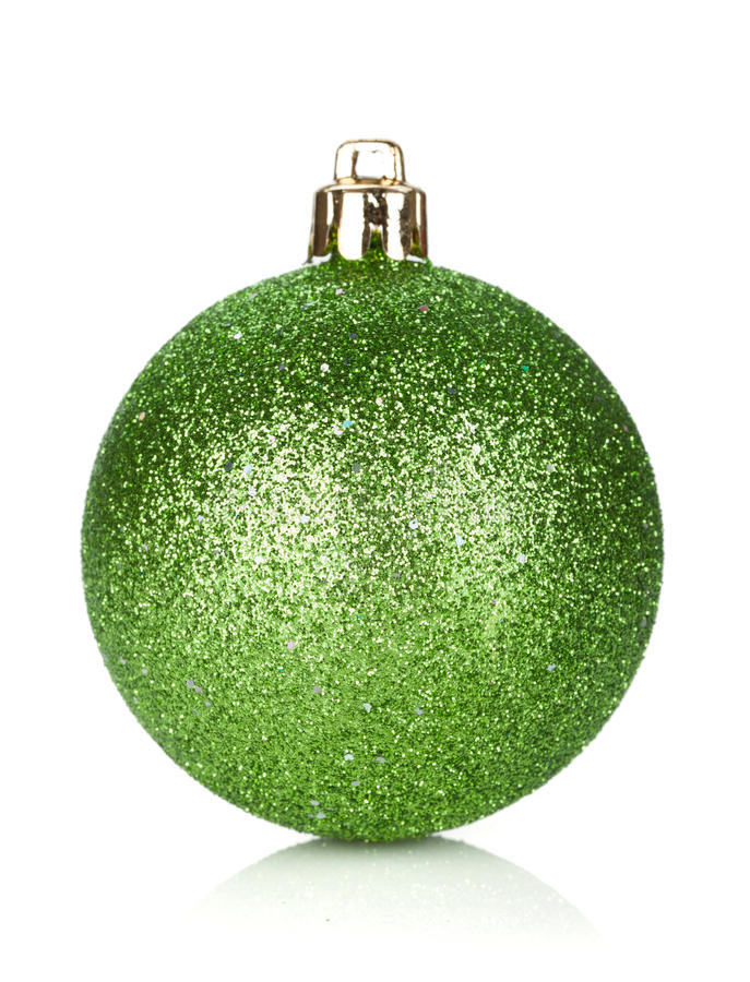 Christmas green bauble decoration
