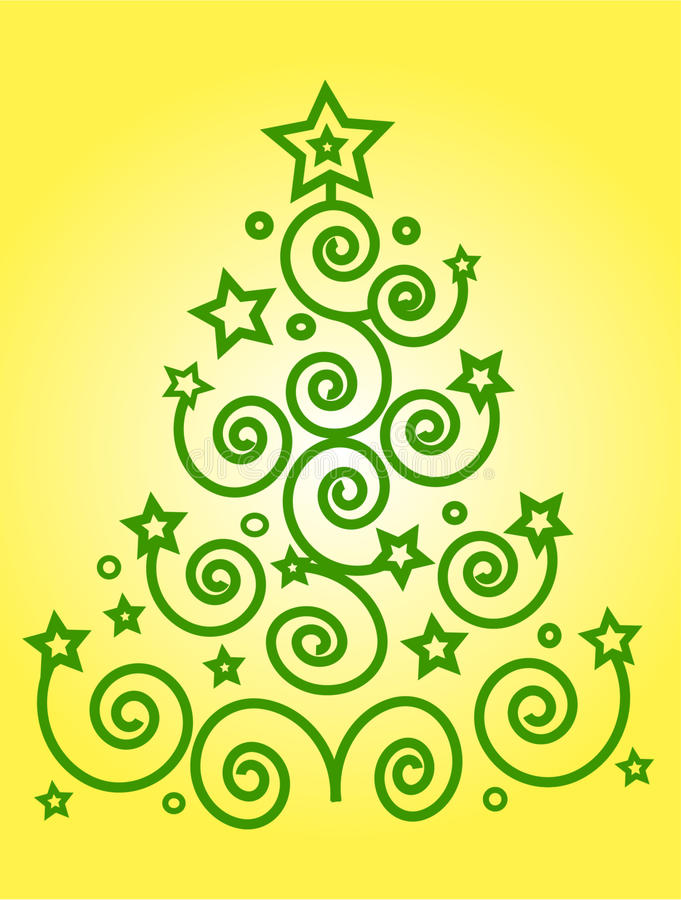 Free Christmas Green Tree Royalty Free Stock Images - 12204259