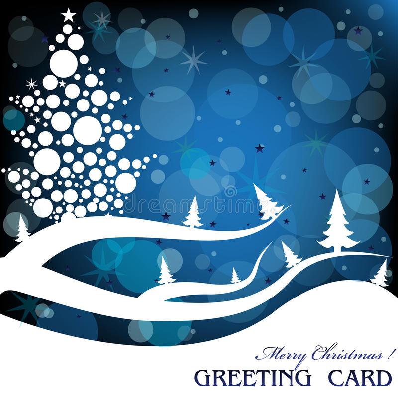 Download Christmas greeting stock vector. Image of blue, artistic - 17090182