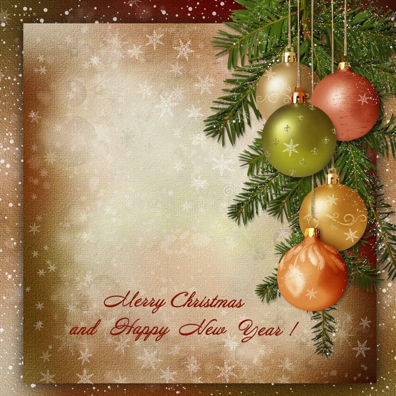 Christmas Greeting Background Royalty Free Stock Photo
