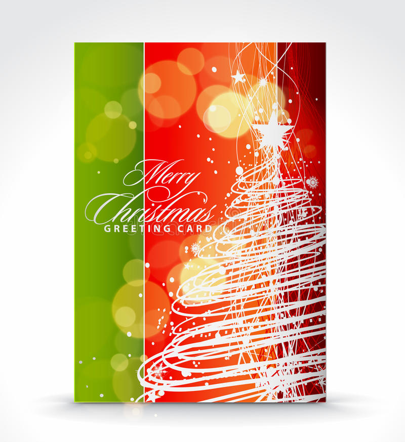 Download Christmas greeting card stock vector. Image of background - 16726786