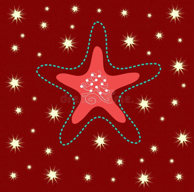 Christmas greeting card with nice star stock photography