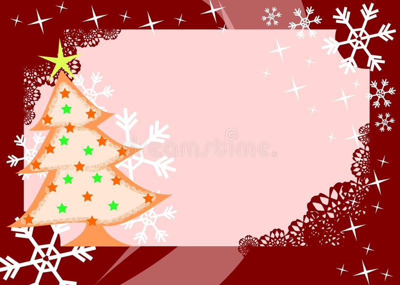 Download Christmas greeting card stock illustration. Illustration of snow - 22010273