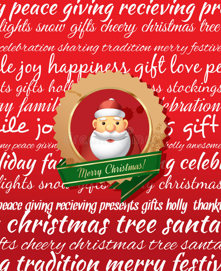 Christmas Greeting Card. stock illustration