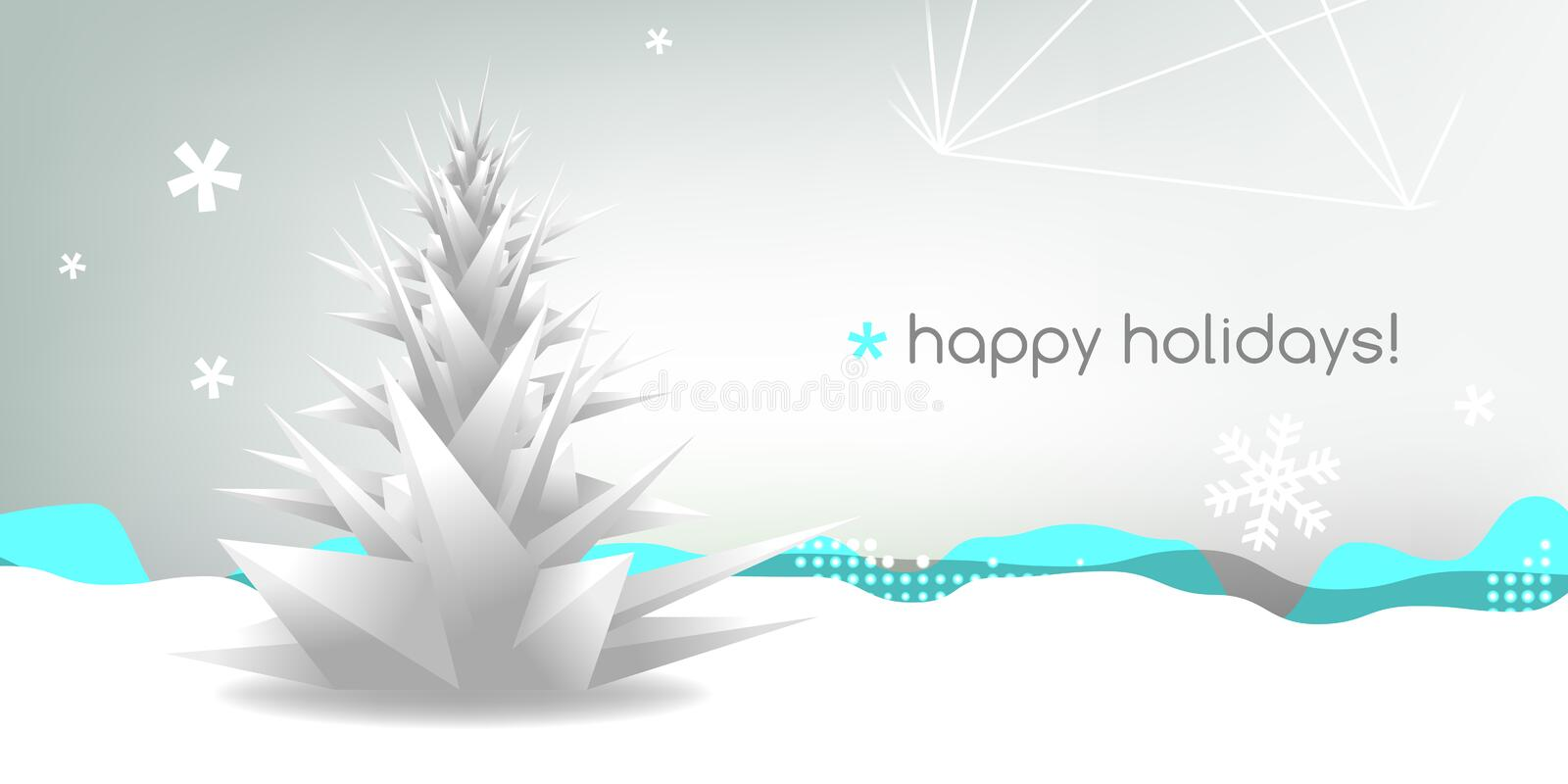 Download Christmas greeting card stock vector. Image of season - 35731690