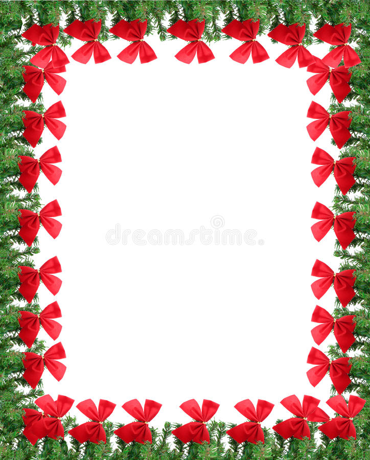 Christmas greeting card border stock photography