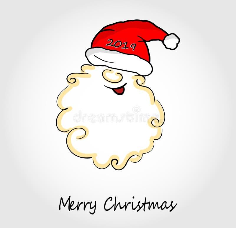 Christmas Greeting Card with Christmas Santa Claus. Vector illustration. royalty free illustration
