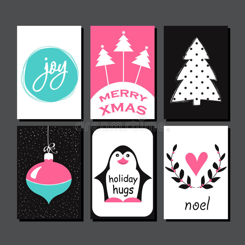 Free Christmas Greeting Card Collection. Stock Image - 62610491