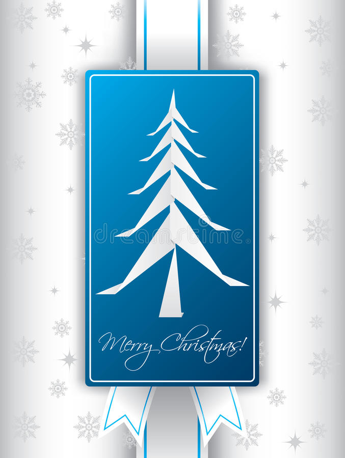 Download Christmas Greeting Card Design With Origami Tree Stock Vector - Image: 26461471