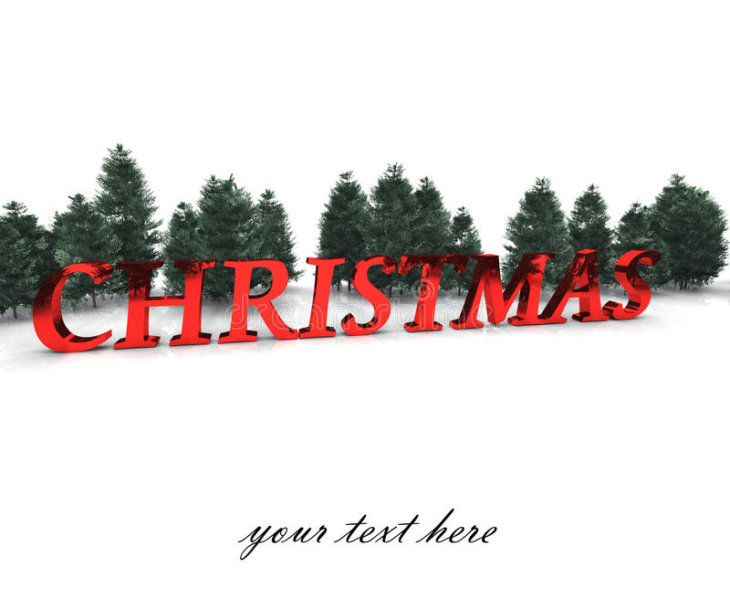Christmas greeting card - enter your text stock images