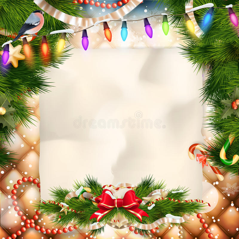 Free Christmas Greeting Card. EPS 10 Royalty Free Stock Photography - 60946897