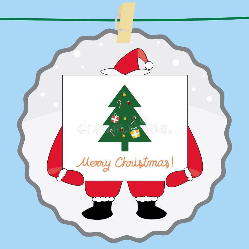 Download Christmas greeting card41 stock illustration. Illustration of cardboard - 35449826