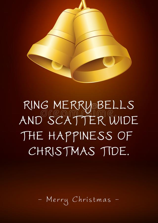 Christmas Greeting Card with Bells and Poem / Rhyme royalty free stock images