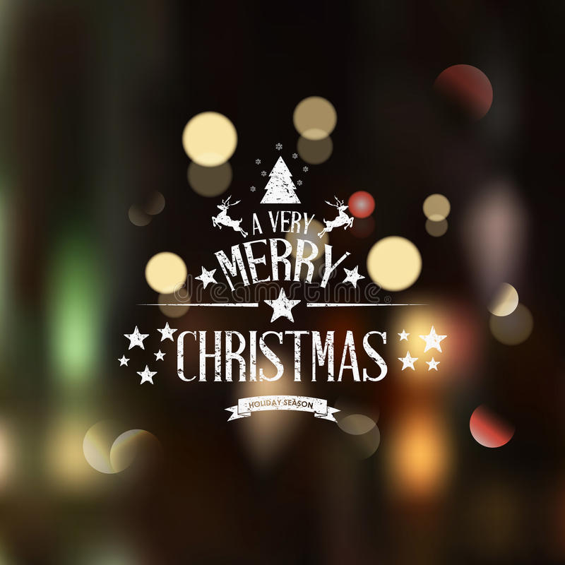 Christmas greeting card - holidays lettering stock illustration