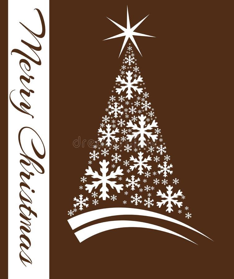 Elegant Christmas greeting card in green tones royalty free illustration