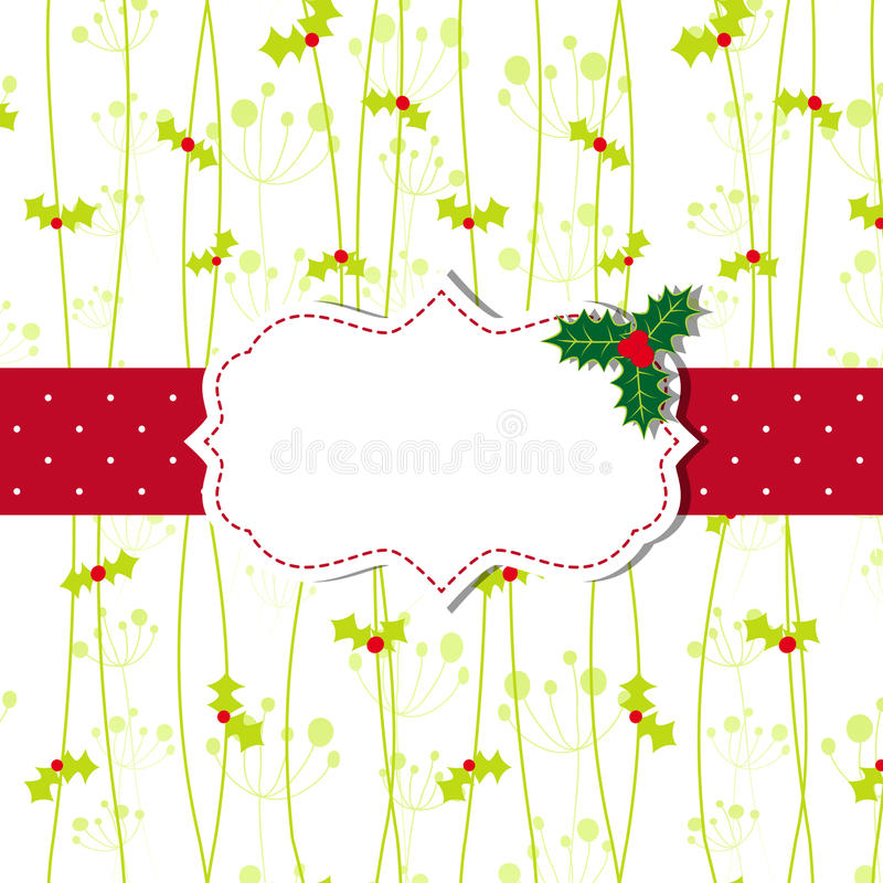 Download Christmas Greeting Card With Ornate Frame Stock Vector - Image: 25113200