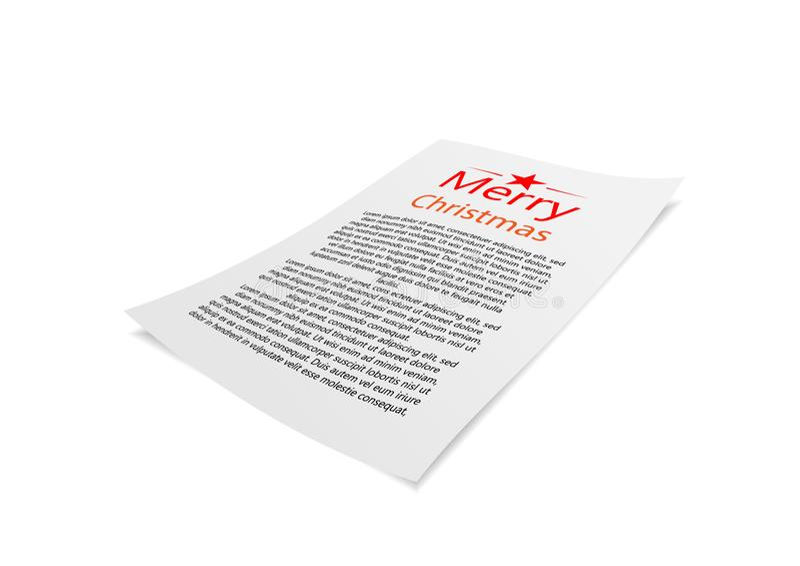 Christmas greeting card paper. General illustration royalty free illustration